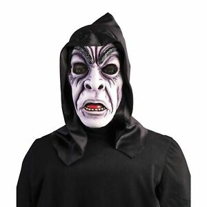 NEW HOODED ZOMBIE GHOUL SCARY HALLOWEEN MASK MASQUERADE MEN'S COSTUME ACCESSORY