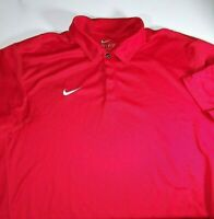 Nike Dri Fit Polo Golf Shirt Mens Size XL Red