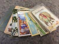 Lot Of Mixed Antique And Vintage Postcards-Nice Mix