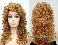 Haute qualité ! brun longue Ondulé santé cosplay Costume cheveux perruques