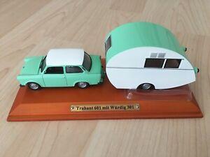 Trabant 601 mit Würdig 301 Caravan 1:43 DDR Modellauto