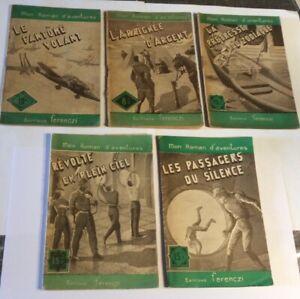Lot de 5 Mon Roman d'aventures/ed.FERENCZI, de Maurice Limat ,Etat correct.
