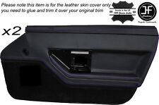 Stitch Viola 2X PORTA ANTERIORE IN PELLE DECORAZIONE carta copertura della pelle si adatta Corvette C4 84-90