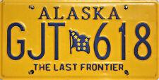 Alaska License Plate,  Original Kennzeichen  USA   GJT 618 ORIGINALSCAN
