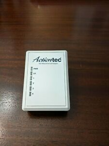 Actiontec PWR504 4 Port Ethernet Powerline Network Adapter -used