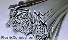 L'HDPE plastica di saldatura BACCHETTE (6mm) Grigio 25pcs / FLAT SHAPE / PEHD