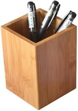 Yosco Bamboo Wood Desk Pen Pencil Holder Stand Multi Purpose Use Pencil Cup Pot