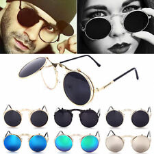 Fashion Retro Vintage Gothic Round Flip Up Sunglasses Steampunk Glasses Goggles