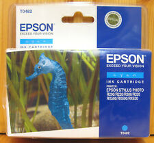 Epson T0482 d'origine Cyan Cartouche. New & Sealed.