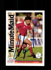 Stephane Chapuisat Schweiz UPPER DECK Sammelcard WM 1994 Original Sign+ A 157689