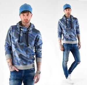 VSCT Clubwear Twisted Geomatrix Hoodie Pullover Kapuzenpullover Gr. S M L XL XXL