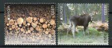 Estonia 2011 MNH Forests Europa Elk Trees 2v Set Wild Animals Nature Stamps