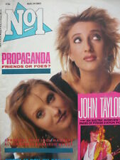 NO 1 (NUMBER ONE) MAGAZINE 24/8/85 - PROPAGANDA - POWER STATION - DURAN DURAN