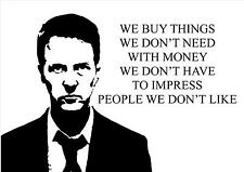 FIGHT CLUB INSPIRATIONAL MOTIVATIONAL QUOTE POSTER PRINT PICTURE (1)