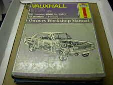 VAUXHALL VIVA 1966 - 1970 USED HAYNES W/SHOP MANUAL