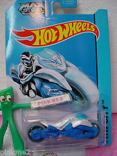 Case E/F 2014 Hot Wheels MAX STEEL MOTORCYCLE #85 US~White w/Blue~Tooned II