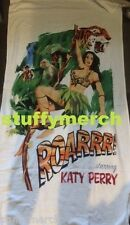KATY PERRY RARE Prismatic World Tour VIP Roar Cartoon Beach Towel WITNESS