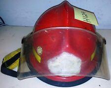 Firefighter Bunker Turnout Gear Morning Pride Lite Force Red Helmet & Visor H124