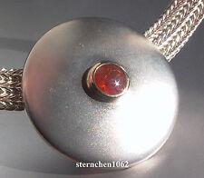 Einzelstück * ausgefallene Halskette mit Feueropal * 925 Silber * 14 ct Gold