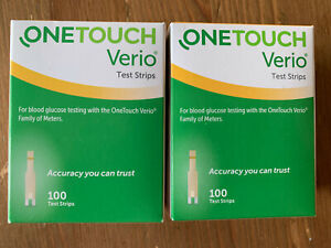ONE TOUCH VERIO 100 TEST STRIPS EXPIRES 7/31/2022 & 11/30/2022