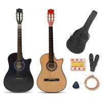 """38"""" Acoustic Guitar Full Size Steel String Musical Gig Bag Strap Pick Pitch Pipe"""