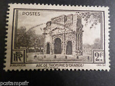 FRANCE 1938, timbre 389, MONUMENT TRIOMPHE ORANGE, oblitéré, VF used STAMP