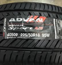2 New 225 50 18 Yokohama Advan Sport A/S Tires