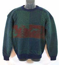 Vintage Woolrich Men's Wool Ski Sweater W/Geese Pine Trees Size MEDIUM