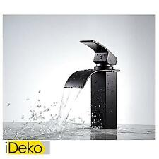 Robinet lavabo en cascade Noir moderne robinet Mitigeur salle de bain