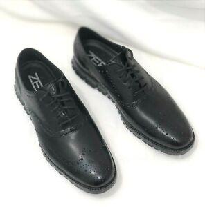 Brand New Cole Haan ZERØGRAND Wingtip Oxford Black Men's Shoes C20719 Size 10