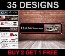 Audi Quattro Rally Car Banner for Workshop, Garage, Group B, HB International