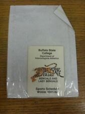 1981/1982 College Sports Fixture List/Card: Buffalo State - Winter Sports Schedu