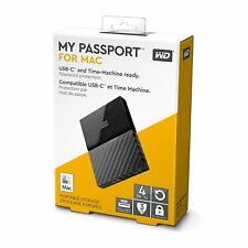 New WD Western Digital 4 TB My Passport for Mac 4TB Portable external Hard Drive