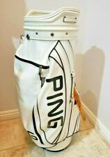 **VERY NICE** PING Staff Golf Bag Black White 6 Way Divider