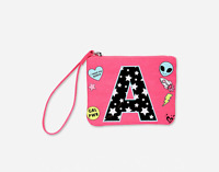 Justice Girl/'s Polka Dot Flip Sequin Initial /'T/' Wristlet New with Tags