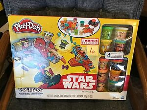NEW STAR WARS CAN-HEADS ALL-STAR ATTACK COMPLETE 10 CHARACTER PLAY-DOH SET
