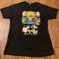 Canelo Golovkin GGG Shirt Large Boxing Wbc Alstyle Double Sided Black