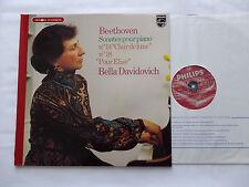 BEETHOVEN / Bella DAVIDOVICH (piano)Sonatas No.14 - 18 & For Elise LP PHILIPS