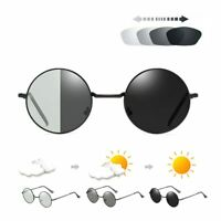 Sunglasses Men Photochromic HD Polarized Driving Glasses outdoor Round glasses.