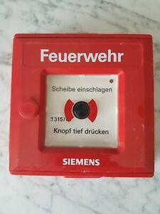 Druckknopfmelder Handfeuermelder Siemens SMF 3120