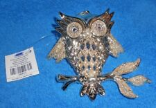 24K Gold Colored Owl Christmas Ornament - New w/Tag
