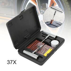 Tyre Wheel Plug Repair Mending Strips Kit 37PCS Tubeless Car Van Tire Puncture