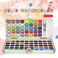 Glitter Watercolor Paint 90 Color Solid Watercolor Set Basic For Drawing Art