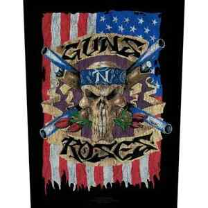 """GUNS AND ROSES - """"AMERICAN FLAG"""" - LARGE SIZE - SEW ON BACK PATCH"""