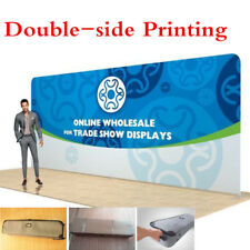 20ft Straight Fabric Tension Pop-Up Trade Show Back Wall -Double side Printing