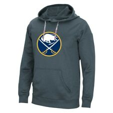 Buffalo Sabres NHL Adidas Men's Onix Grey ClimaWarm Tech Pullover Hoodie
