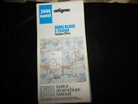 carte  IGN bleue 3444 ouest cotignac 1987