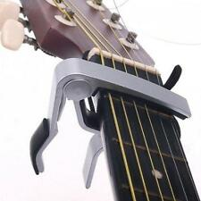 Silver Quick Change Tune Capo Key String Trigger for Acoustic Electric Guitar MT