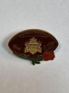 1993 NFL Super Bowl 27 Dallas Cowboys Buffalo Bills Rare Press Pin Pasadena CA