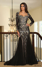 Diamond Shape Back Long Sweet 16 Dress Gala Evening Gown & Plus Size 4